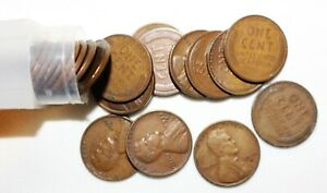 1 Partial Roll 1933 D Lincoln Wheat Cents 35 1c US Coins Average Circ Denver