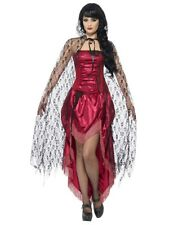 Gothic Victorian Vampire Long Black Lace Cape Adult Costume Accessory