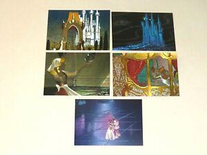1995 Cinderella DUFEX FOIL insert 5 CARD Set SkyBox Disney's! CARTOON ANIMATION!