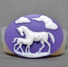 Los caballos Cameo Molde de Silicona Magdalena Arcilla Fimo Sugarcraft Molde De Caballo Pony camafeo