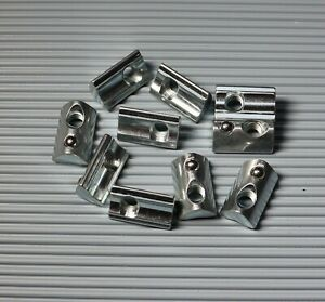 Nutensteine Nut 6 Aluprofil M4/ M5/ M6  Nutenstein mit Federkugel und Steg