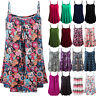 Womens Loose Mini Strap Tank Tops Vest Summer Causal Flared Swing Shirt Camisole