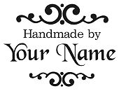 PERSONALIZED  CUSTOM MADE  RUBBER STAMPS HANDLE MOUNTED SCRAPBOOK NAME H63
