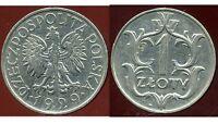 POLOGNE  1 zloty  1929