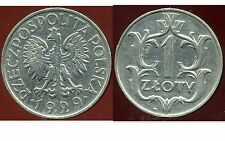 POLOGNE  1 zloty  1929  ( bis )
