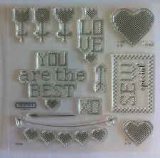 "Close To My Heart - Acrylic Stamps ""S1401 CROSS STITCH WISHES"" BNIP - MY ACRILYX"