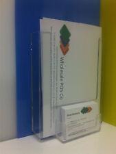 A5 Wall Mounted Leaflet & Business Card Holder / Flyer Display / Dispenser