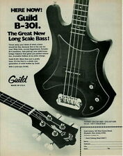 1978 THE LONG SCALE BASS GUILD B-301 GUITAR AD