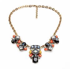 NEW * Urban Anthropologie Yasmina Fly Yellow Orange Blue Gemmed Chain Necklace