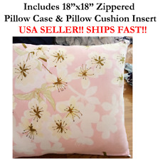 "18""X18"" 18x18 Daisy Daisies Zinnas Dandelions FLOWER Throw Pillow Case & Cushion"