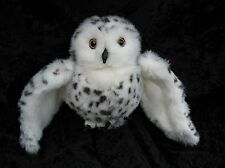 Folkmanis White Black Spotted Snowy Owl Plush Hand Puppet Stage Pretend Play