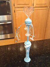 Disney on Ice Frozen Anna Elsa heart blue white light up toy spinner RARE EUC