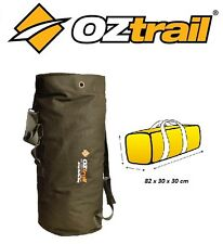 OZTRAIL CANVAS ARMY DUFFLE BAG Military Style Outdoor Camping Picnic BPC-DUFA-D