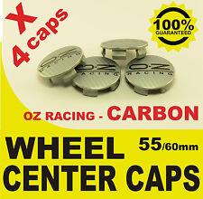 tapas llantas  ruedas wheel center caps OZ RACING CARBONO GRAY 55mm 60mm 4x
