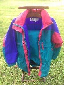Vtg 90s Columbia Pullover Radial Sleeve 2 Piece Ski Suit XL Gizzmo Jacket L Pant