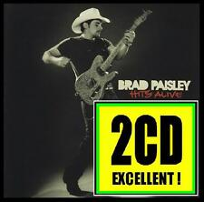 BRAD PAISLEY (2 CD) HITS ALIVE ~ MUD ON THE TIRES~TICKS+++ DOLLY PARTON *NEW*