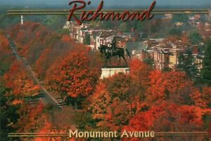 Robert E. Lee Monument Avenue Richmond Virginia Civil War Confederate - Postcard