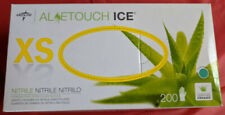 New Medline Aloetouch Ice Nitrile Exam Gloves Green 200/Box XSmall