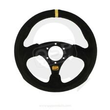 "QSP Suede Steering Wheel,""Rally Flat 300"" 300mm flat QS.S300Z3"