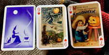 Fortune Telling Gypsy Witch Swap Cards 3 Halloween Trading Cards Boy Witch Stalk