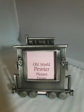 Vintage Train Pewter picture frame Great American Products