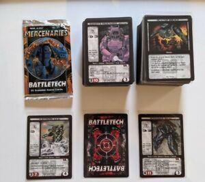 Battletech Cards CCG Mercenaries 1997 WOTC - 175+ cards!! 11 rares!!