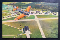 1942 USA Airforce PO Brooks Field PO Picture Postcard Cover Hangar Quarters