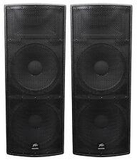 "2 Peavey SP 4 Dual 15"" 4000w Passive Black Widow Biampable 3-Way PA Speakers SP4"