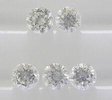 Natural Loose Brilliant Cut diamond 2.3-2.5mm 5pc 0.25cts VS-SI Clarity F Color