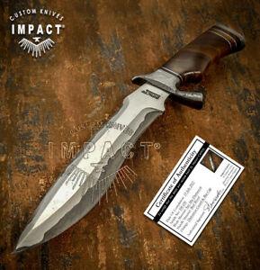 IMPACT CUTLERY RARE CUSTOM SAN MAI DAMASCUS  COMBAT BOWIE KNIFE