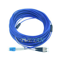 30M LC to FC Single Mode SM 9/125 Duplex Indoor Armored Cable Fiber Patch Cord