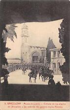 CPA ESPAGNE BARCELONA MUSEO DE GUERRA ENTRADA DE LOS ALIADOS EN JERUSALEM A LAS
