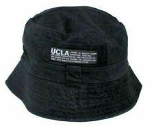 Cotton Bucket Hat BLACK UCLA Unisex Fishermans Beach Summer Sun Festival