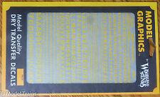 Woodland Scenics #724 (Yellow) Dry Transfer Alphabets - Railroad Gothic - Size -