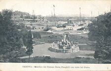 GENOVA – Giardino del Palazzo Doria Pamphili con Vista del Porto–Genoa–Italy–udb