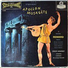 Stravinsky Apollon Musagete London 1E/2E Blue Back Stereo LP Vinyl NM Ansermet