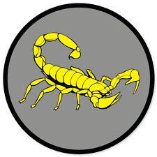 """Yellow Scorpion car styling auto moto sticker 4"""" x 4"""""""