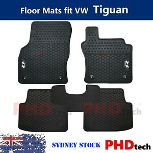 Prime Quality Rubber All Weather Car Floor Mats fit VW Tiguan MKII R-Line 2018~