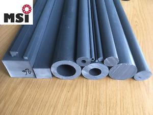 PVC Rundstab Hohlstab Rohr Vierkant Stab Zuschnitt L+D wählbar grau Top Preise!