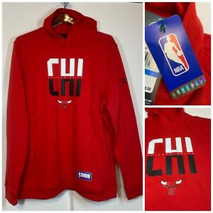UNDER ARMOUR CHICAGO BULLS NBA COMBINE TEAM HOODIE RED PULLOVER SIZE XL NWT
