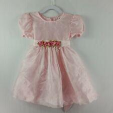 Rose Cottage Girls Tutu Dress Size 6 Pale Pink Roses Short Sleeve