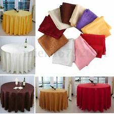 Party Banquet Luxury Wipe Clean Round Table Cloths Catering Covers Small Large