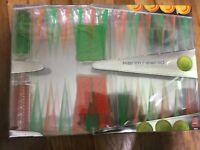Karim Rashid Backgammon Set Neon Green & Orange Brand New