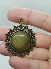 Gemstone Pendant Necklace A+ Genuine Natural Cat's Eye Cabochon