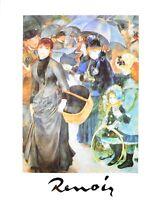 Pierre Auguste Renoir Les Parapluies Poster Kunstdruck Bild 30x24cm