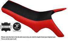 BLACK & RED CUSTOM FITS MZ MASTIFF BAGHIRA DUAL LEATHER SEAT COVER ONLY