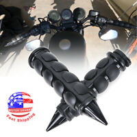 1'' Motorcycle Handle Bar End Hand Grips Fit for Harley Yamaha Suzuki Honda Spik