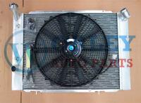 For HOLDEN COMMODORE radiator + one fan VB VC VH VK V8 1979-1986 Auto Aluminum
