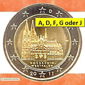 Sondermünzen Deutschland: 2 Euro Münze 2011 NRW Kölner Dom Sondermünze BRD