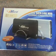 "NEW iMicro 3.5"" USB Hard Drive Enclosure for BOTH SATA & IDE (G2)"
